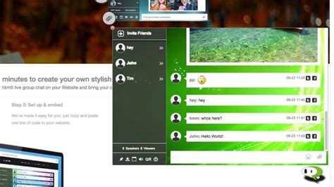 free chat room for website embed html chat room on your website