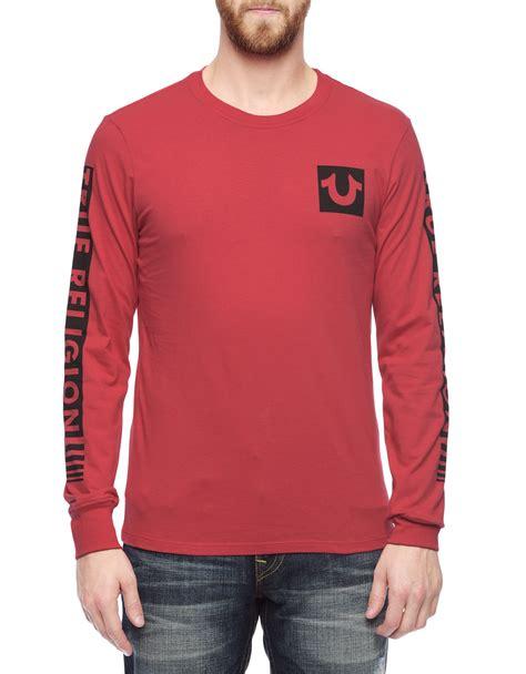 true religion sleeve fade sleeve mens t shirt in