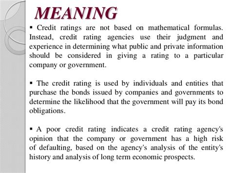 Formula Of Credit Rating Credit Rating