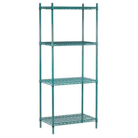 advance tabco shelving advance tabco egg 1836 epoxy coated wire shelving unit w