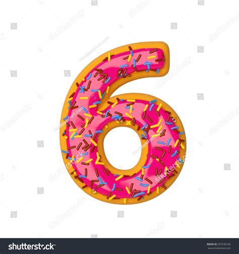 Donuts Number biscuit donut number stock illustration 207536182