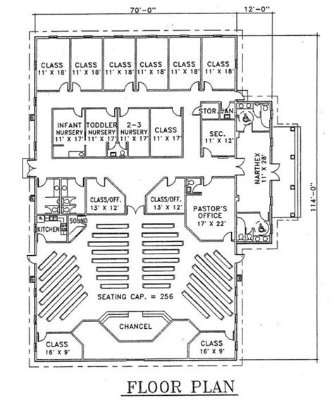 Small Church Floor Plans church plan 103 lth steel structures