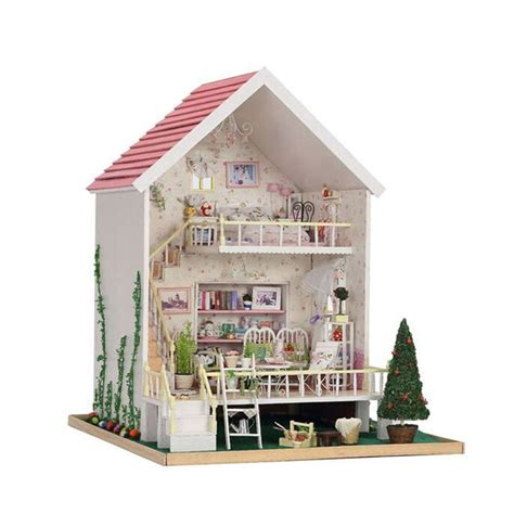 doll house children toys dollhouse picture more detailed picture about manual pink wood small doll house