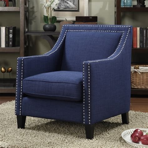 small upholstered chair for bedroom home living room with blue accent chair with arms vintage