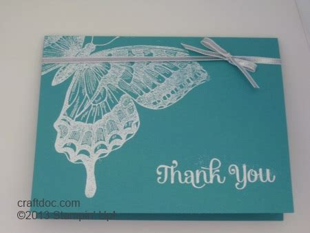 Butterfly Gift Card - craftdoc 187 butterfly card