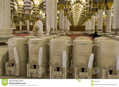 nabawi teko fancy zamzam 1 5 liter rows of drums of zamzam water in drums editorial image