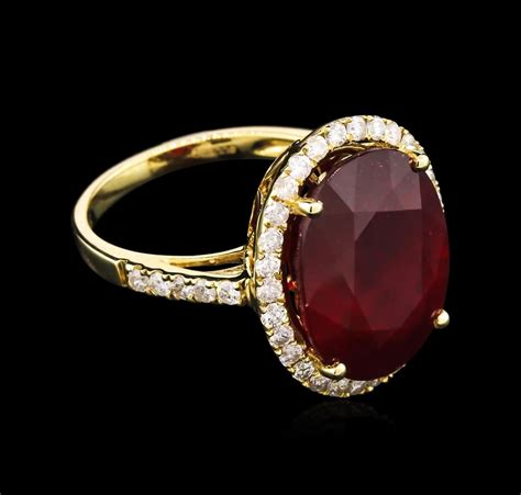 Ruby 7 15ct 13 15ct ruby and ring 14kt yellow gold