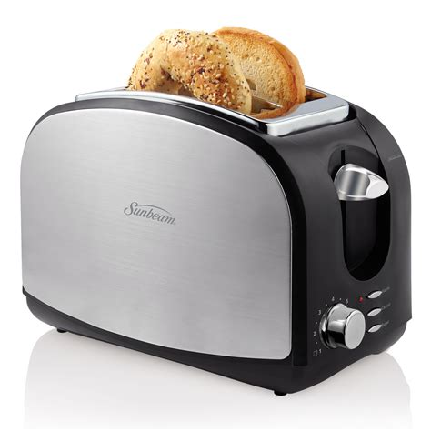 sunbeam kitchen appliances sunbeam 174 2 slice black stainless steel toaster