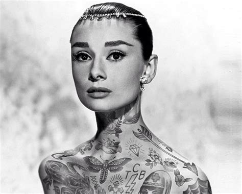 tattoo icons what would audrey hepburn princess di and
