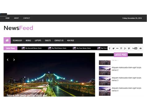bootstrap templates for news free download newsfeed free news magazine bootstrap template