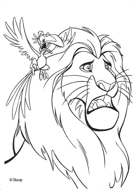 lion king hyenas coloring pages zazu warns mufasa coloring pages hellokids com