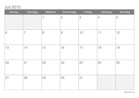 Kalender 2015 Juli Kalender Juli 2015 Zum Ausdrucken Ikalender Org