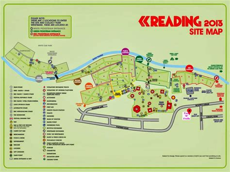 reading map n frolic reading festival parking