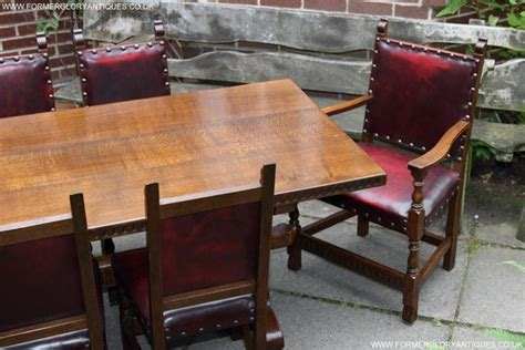 leather dining chairs preloved nigel griffiths carved oak dining table 8 chairs armchairs