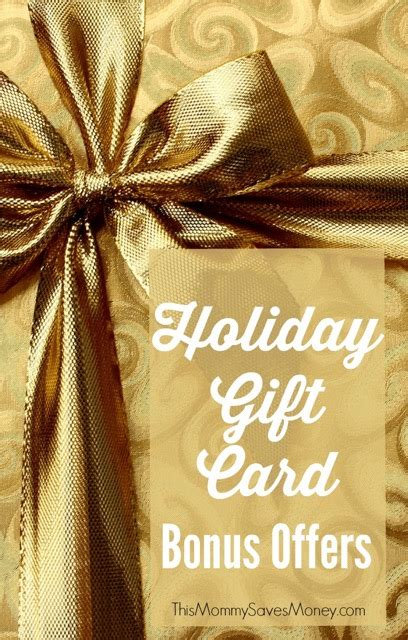 Gift Cards With Bonus - holiday bonus gift card offers 2015 this mommy saves money