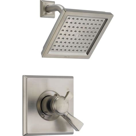 Delta Dryden Shower by Delta Dryden 1 Handle Shower Only Faucet Trim Kit In Stainless Valve Not Included T17251 Ss