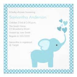 elephant hearts baby shower invitation boy zazzle