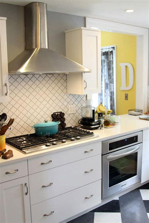 lantern tile backsplash before after kitchen makeover design sponge