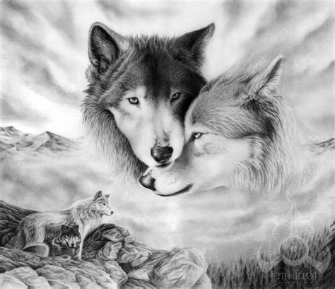 imagenes mujeres lobas 10 cool wolf drawings for inspiration hative