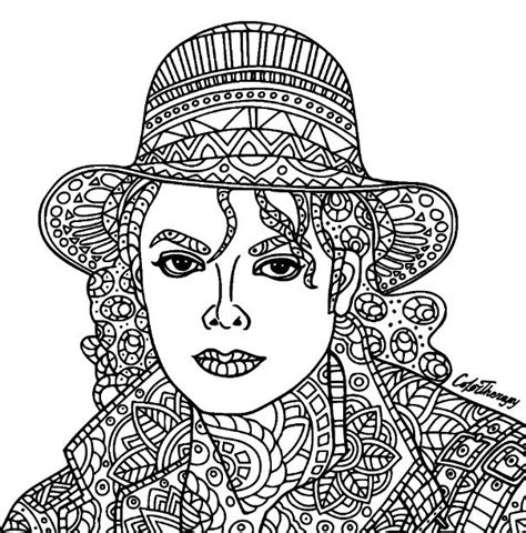 michael jackson coloring pages michael jackson coloring color therapy app try this