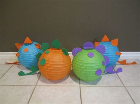 Dinosaurs Decorations by Dinosaur Paper Lantern Decoration Kit Your Colors