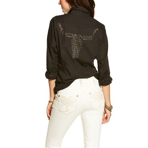 pungo ridge ariat s leigh snap shirt black