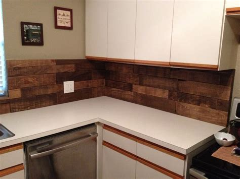 pallet wood backsplash diy kitchen backsplash using pallet wood minwax special