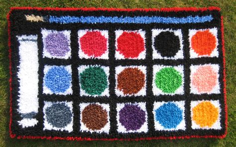 hook rugs kits paintbox small latch hook rug kit