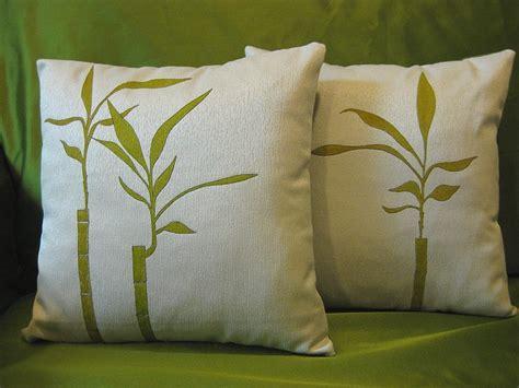Sarung Bantal Cushion Cover Watercolor Talk bamboo painting fabric pillow on luulla
