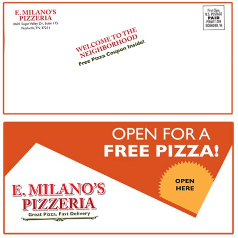mailer template new mover pizza mailer template