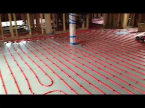 pex layout and install on wood sub floor