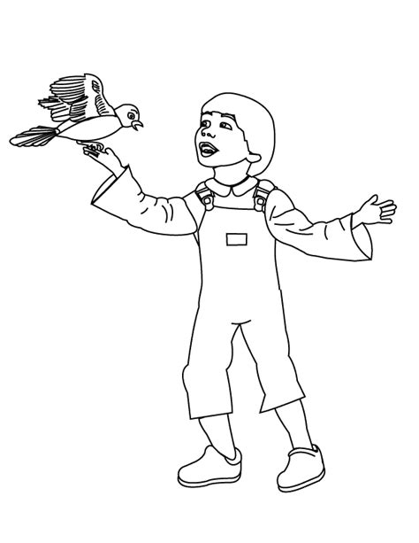 coloring pages little boy