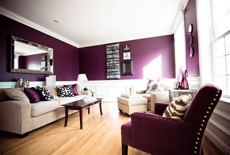 deep purple  white living room rooms  august black
