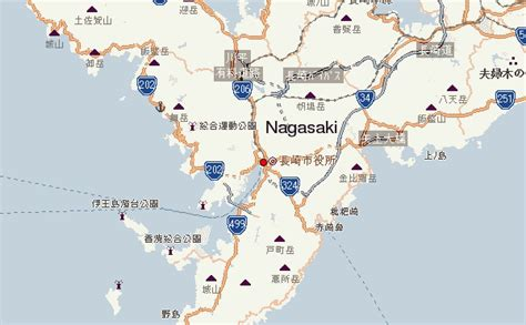 nagasaki map gu 237 a urbano de nagasaki