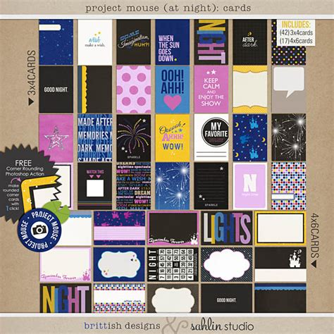 design studio journal project mouse at night journal cards by britt ish