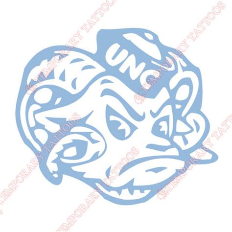 unc tar heel tattoo designs carolina tar heels customize temporary tattoos