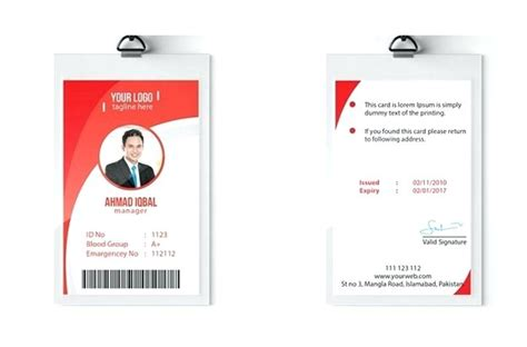 Volunteer Id Card Template by Free Id Badge Template Image Collections Template Design