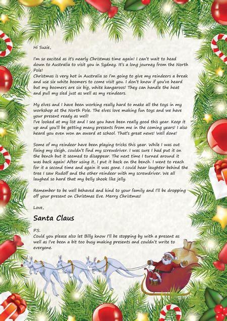 santa claus letters letters  santa claus santa claus letter  kids santa claus letters