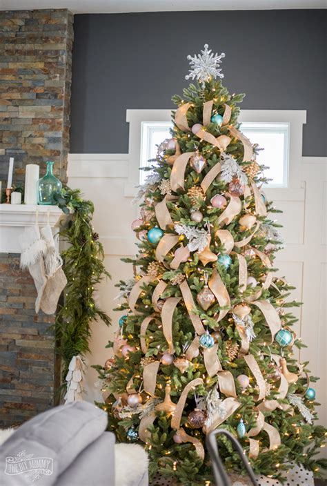 how to decorate a rustic glam farmhouse christmas tree