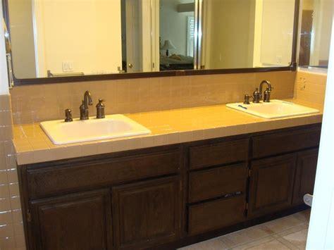 Countertop Reglazing by Pkb Reglazing Tile Bathroom Countertop Reglazed Latte