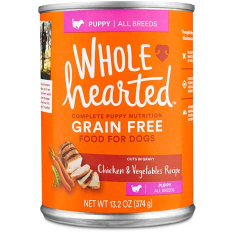 puppy formula petco wholehearted grain free puppy chicken and vegetable recipe food petco