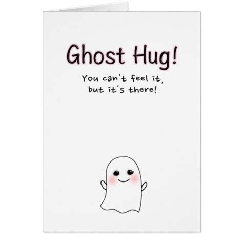 hug hug card template ghost hug greeting card card zazzle