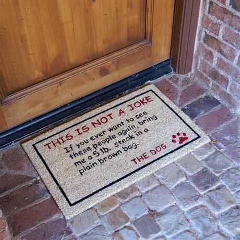 bring  lbs steak dog door mat