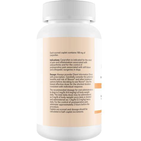 carprofen 100mg for dogs novox carprofen 100 mg 180 caplets