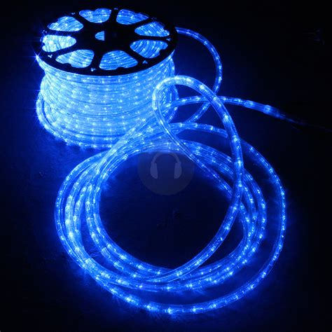 Patio Rope Lights Mega Bright 157ft Led Rope Light Home Outdoor Garden Deck Ropelight Blue Ebay
