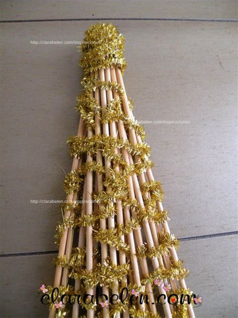 arbol de navidad casero inspiraciones manualidades y reciclaje diy 193 rbol de navidad casero con palillos y limpiapipas