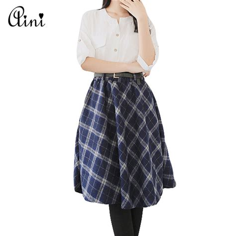 Tartan Umbrela Skirt buy wholesale plaid wool skirt from china plaid
