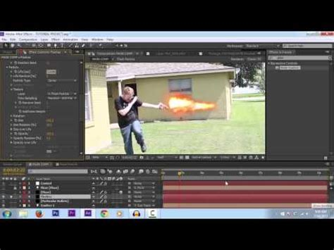 tutorial flash effect muzzle flash particle system after effects tutorial