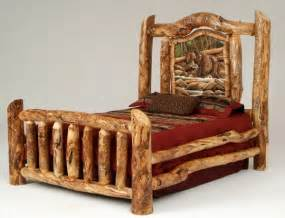Rustic Log Bedroom Furniture Best 20 Log Bed Ideas On Log Bed Frame Timber Bed Frames And King Size Frame