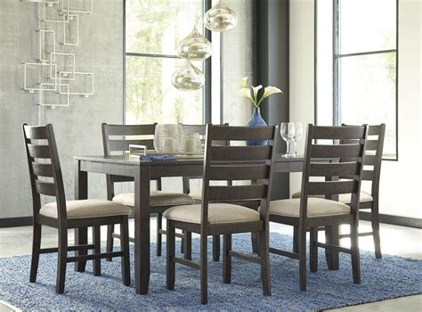 7 dining room set rokane brown 7 dining room set d397 425